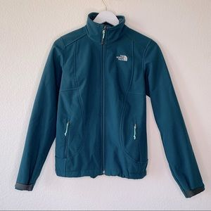 The North Face Thermal Softshell Jacket Small Teal